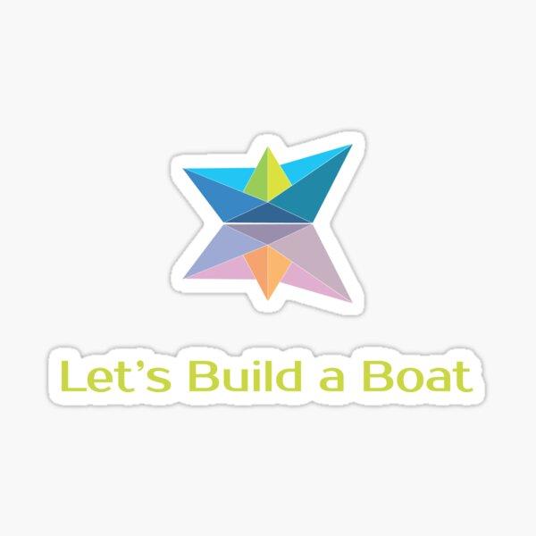 Let's Build a Boat coloured logo Sticker