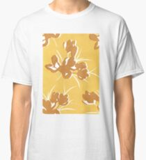 Abstract Floral Two Tone Print Classic T-Shirt
