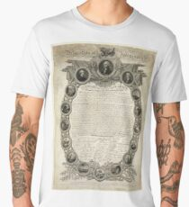Facsimile of the Declaration of Independence dated April 19th 1819 Men's Premium T-Shirt