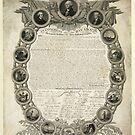 Faksimile der Unabhängigkeitserklärung vom 19. April 1819 von allhistory