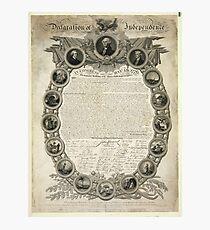 Faksimile der Unabhängigkeitserklärung vom 19. April 1819 Fotodruck