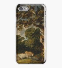 A Wooded Landscape With Cattle And Herdsman by Gainsborough Dupont iPhone Case/Skin