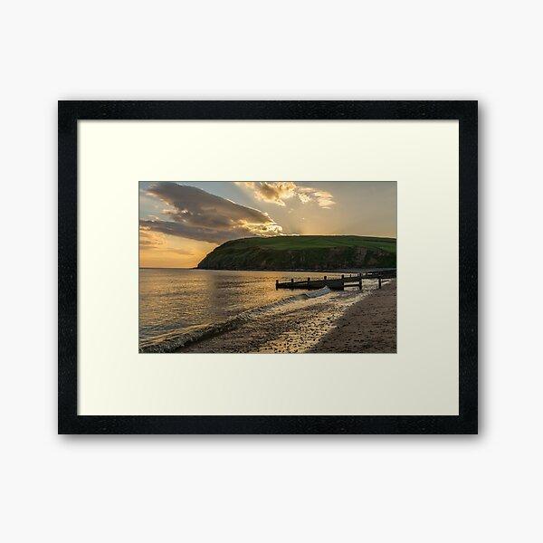 St. Bees Sunset.  Framed Art Print