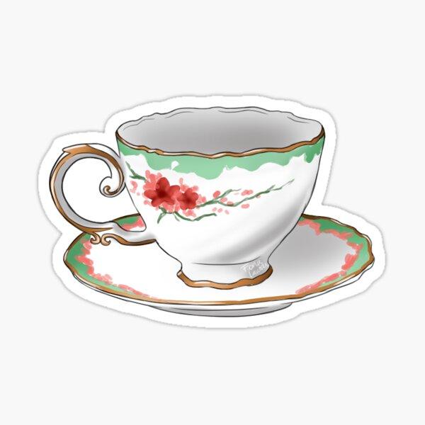 Cherry blossom Teacup - TeaParty Sticker
