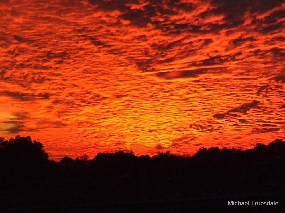 Fire in the sky by Michael Truesdale