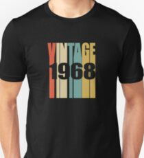 Vintage 1968 Birthday Retro Design Unisex T-Shirt