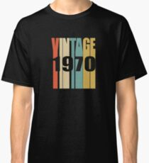 Vintage 1970 Birthday Retro Design Classic T-Shirt