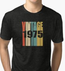 Vintage 1975 Birthday Retro Design Tri-blend T-Shirt