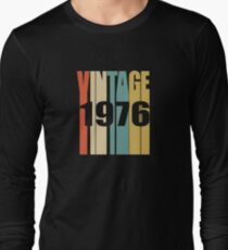 Vintage 1976 Birthday Retro Design Long Sleeve T-Shirt