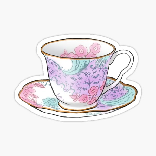 Classic China Tea Cup - TeaParty Sticker
