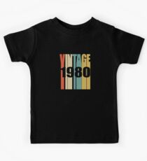 Vintage 1980 Birthday Retro Design Kids Clothes