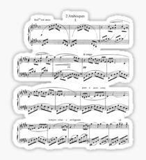 Debussy Arabesque Sticker