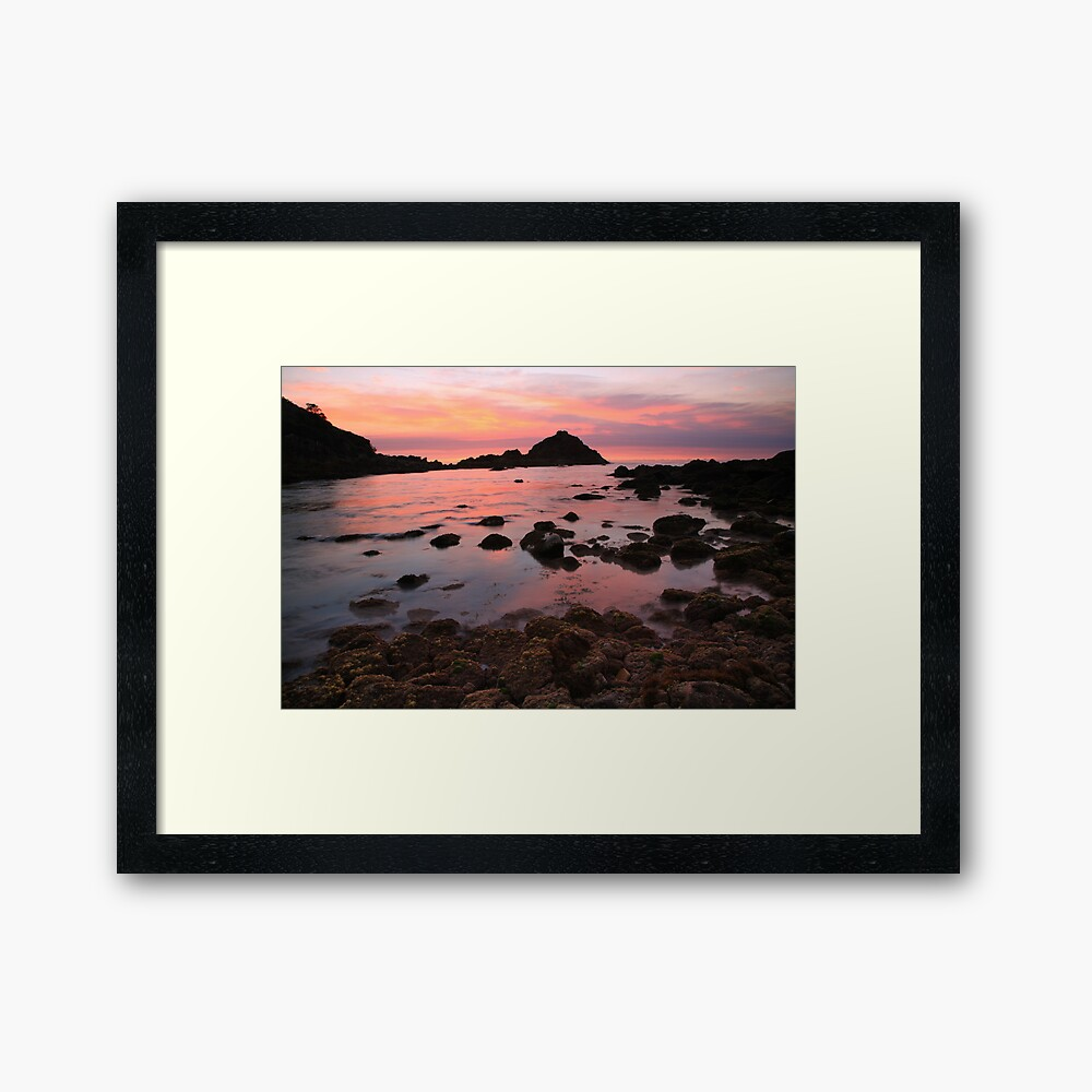 A new day dawns, Mallacoota, Victoria, Australia Framed Art Print
