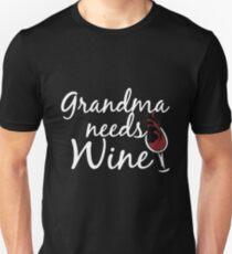 Grandma Needs Wine T-shirts T-Shirt