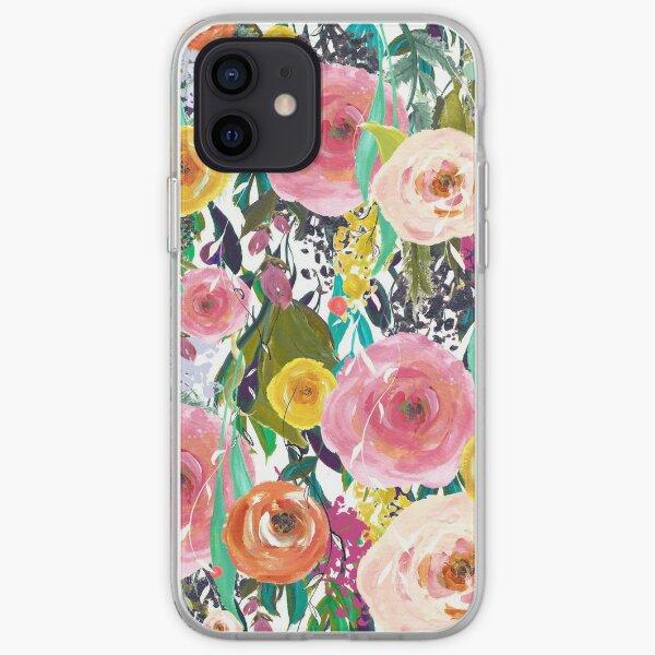 Pretty Watercolor Garden Floral iPhone Soft Case