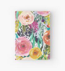 Pretty Watercolor Garden Floral Hardcover Journal