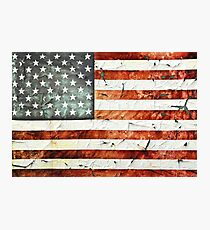 Painted Stars And Stripes Photographic Print