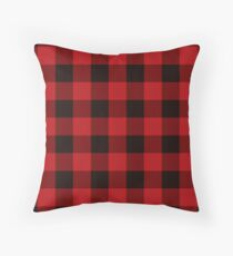 Country Christmas Cottage Primitive lumberjack Buffalo Plaid Throw Pillow