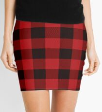 Country Christmas Cottage Primitive lumberjack Buffalo Plaid Mini Skirt