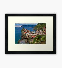 Italy. Cinque Terre. Vernazza. Framed Print