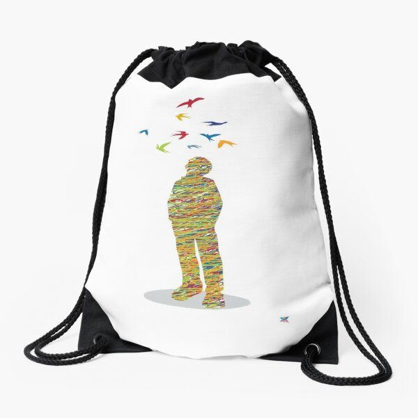 Dreamer (multi colours) Drawstring Bag