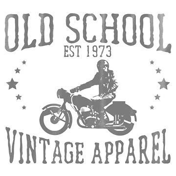 Motorcyclist Motorbiker Vintage Design - Old School Vintage Apparel by kudostees