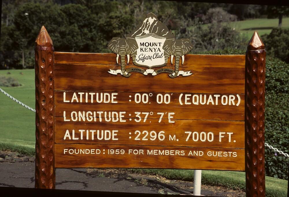 Mount Kenya Safari Lodge - sign - by bertspix