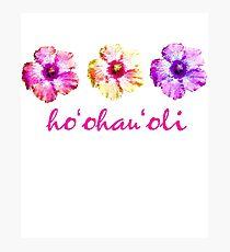 Give Joy - Hawaiian Aloha Hibiscus Design - Hawaiian Language Photographic Print