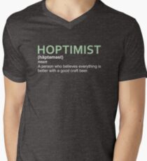 Hoptimist Design for Craft Beer Lovers Men's V-Neck T-Shirt
