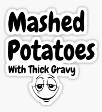 Funny Potato shirt Sticker