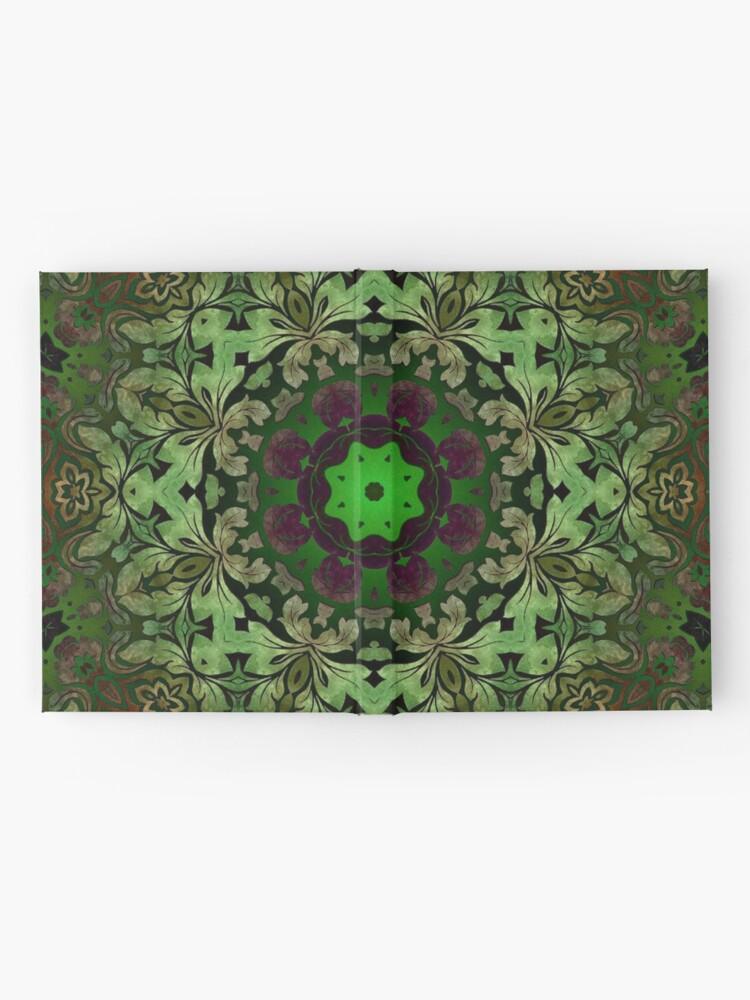 Alternative Ansicht von Kunstböhmisches Druckwaldgrün Mandala der Renaissancekunst Notizbuch