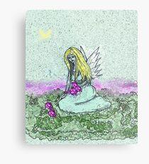 My first fairy throw pillow Metal Print