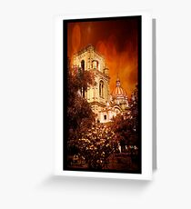 Immaculate Conception With Bokeh Greeting Card