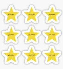 Adult Gold Stars - you tried Sticker