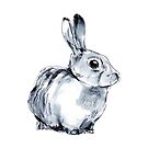 Inky Bunny (White) by scatterbee