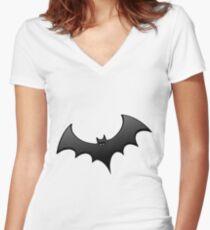 Batman Women's Fitted V-Neck T-Shirt