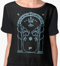 Speak Friend and Enter, The gates of moria Chiffon Top