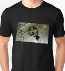 """Ouch"" Gothic Figure in Broken Mirror Art Unisex T-Shirt"