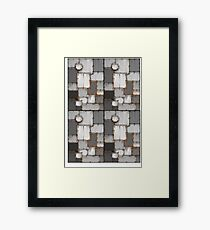 rusty steel plated armour  Framed Print