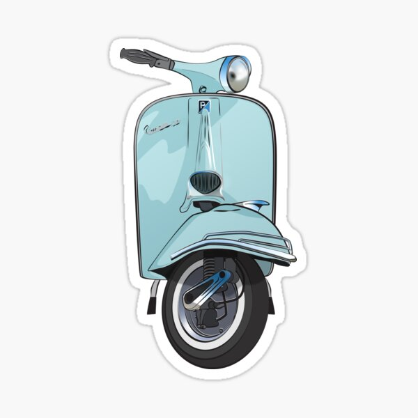 Retro Vespa Sticker