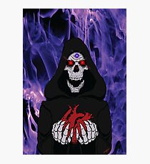 Grim Reaper and Heart Photographic Print