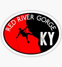 RED RIVER GORGE KENTUCKY CLIMBING MOUNTAINEERING ROCK RAPPELLING Sticker