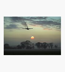 And finally - Vulcan sunset Photographic Print