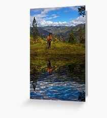 Paute Horse Reflection Greeting Card