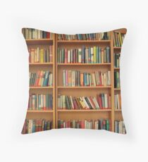 Bookshelf Books Library Bookworm Reading Throw Pillow