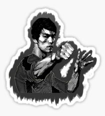 Bruce Lee Game of Death power pose shadow Sticker