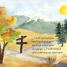 Heavenly Guidance -  Psalm 32:8 by Diane Hall