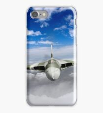 Avro Vulcan head on above clouds iPhone Case/Skin