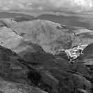 Vulcan low level in the Lakes B&W version by Gary Eason