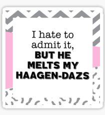 He Melts My Haagen-Dazs - Pattern Sticker
